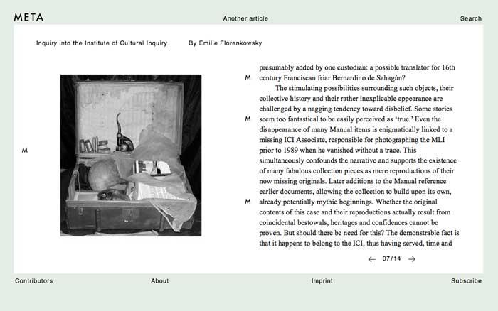 META journal article at ICI 8